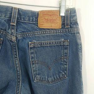 Levis 518 Blue Jeans Super Low Boot Cut Denim USA